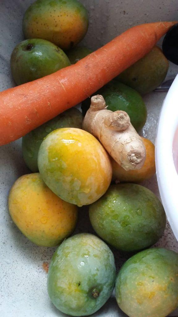 manga com cenoura e Gengibre